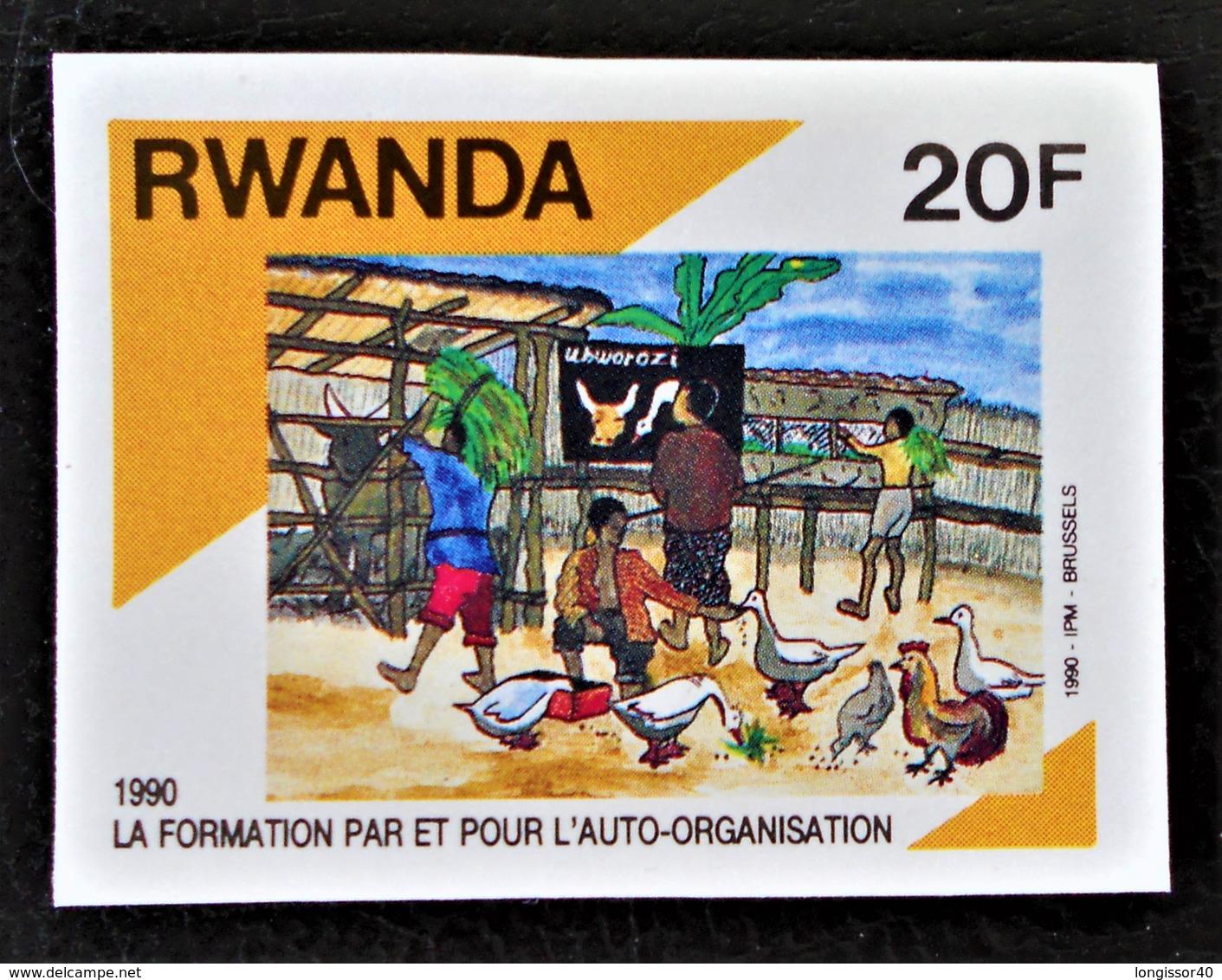 FORMATION AGRICOLE 1991 - NEUF ** - YT 1314 - MI 1447B - NON-DENTELE - Rwanda