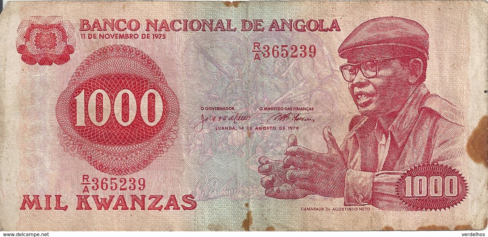 ANGOLA 1000 KWANZA 1979  VG+ P 117 - Angola