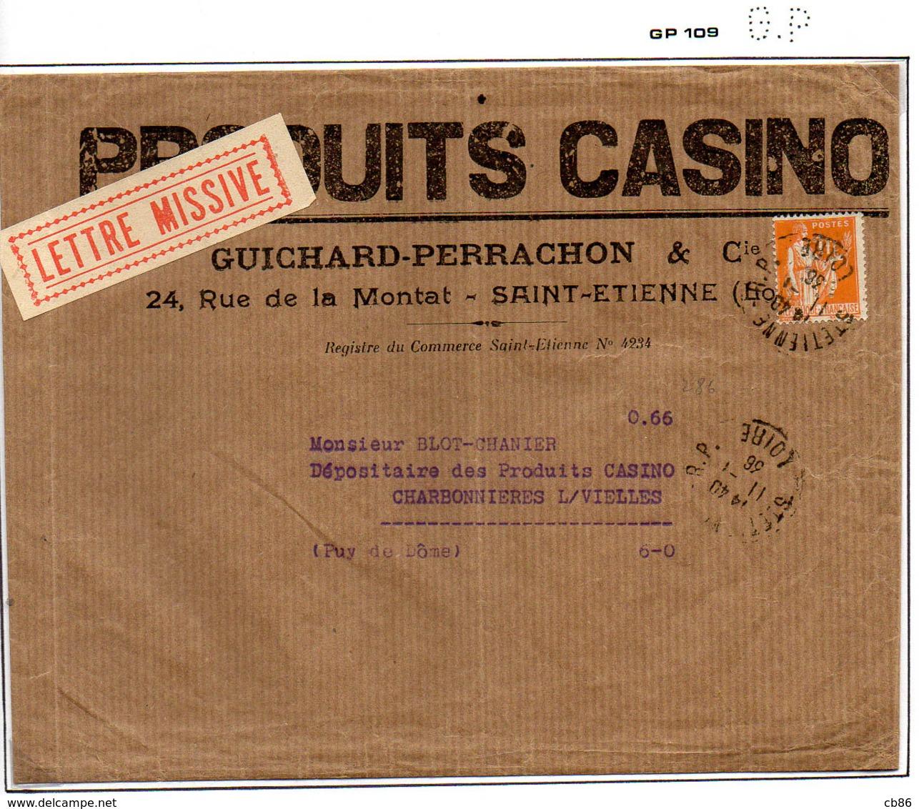 Perforé France Type Paix N° 286 Perf Ref Ancoper GP 109 - Perforés