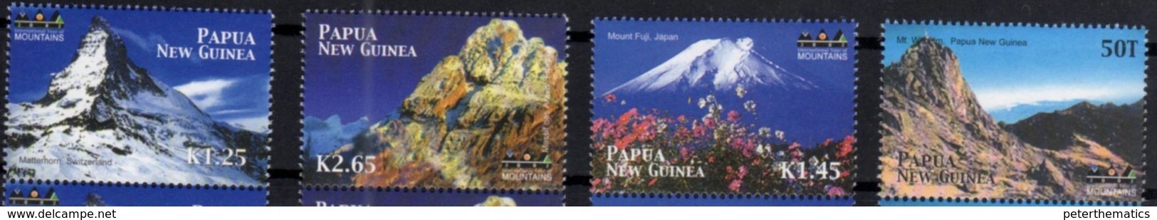 PAPUA NEW GUINEA, MNH, MOUNTAINS, MOUNT MATTERHORN, FUJI, 4v - Other