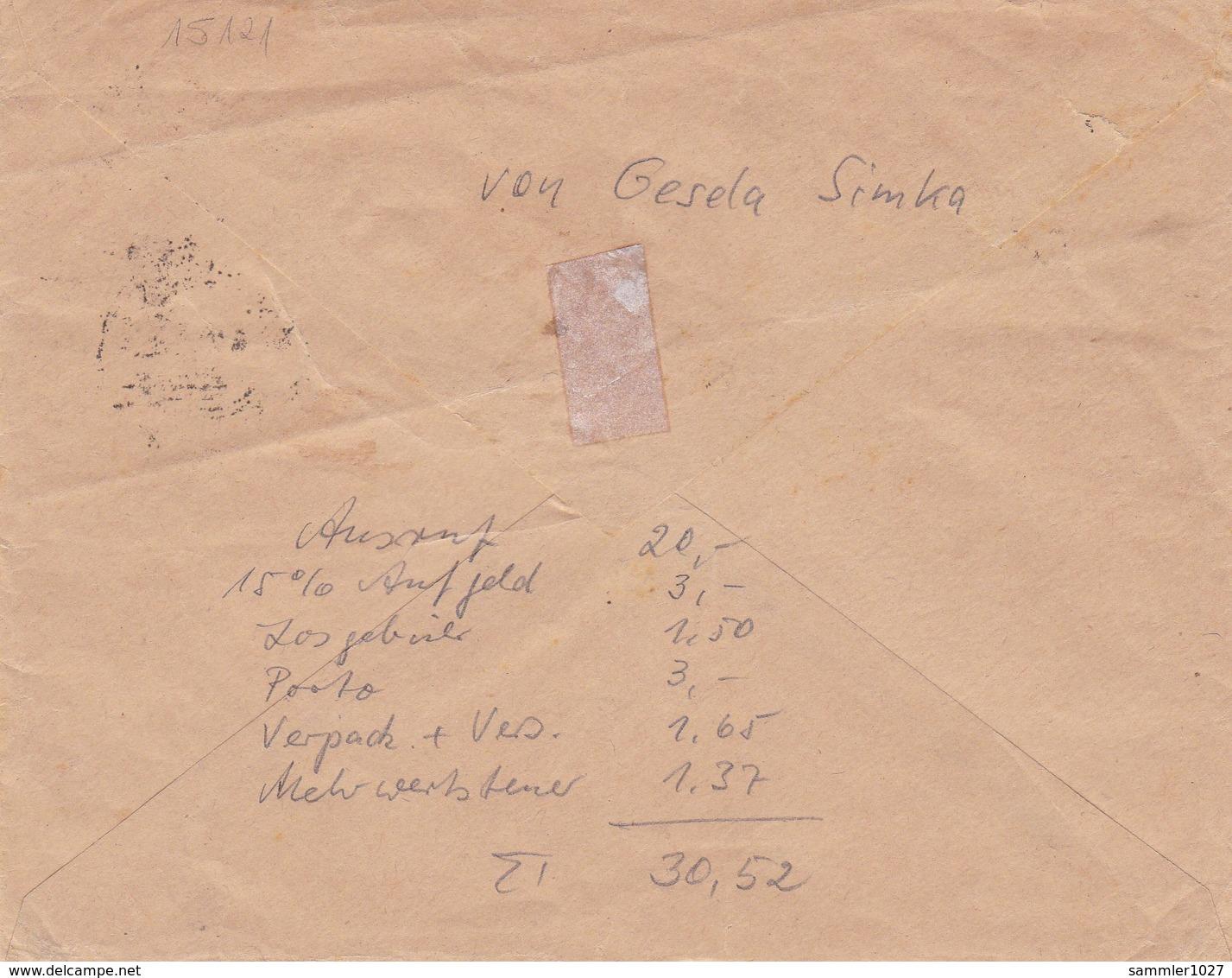 DR Brief - Rückseite Mit Rechenkunststück - Lettres & Documents