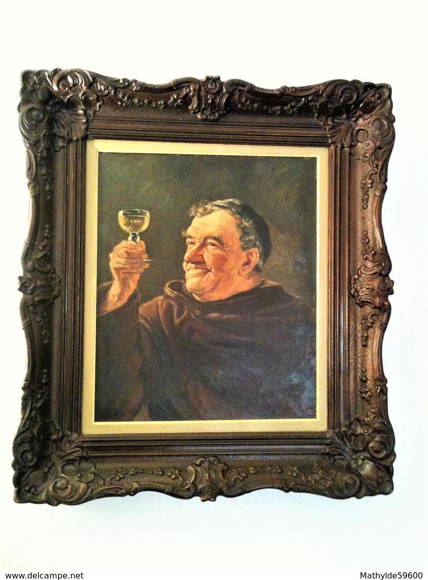 Giordani Aldo - Moine Au Verre - Huile Sur Toile - Oils