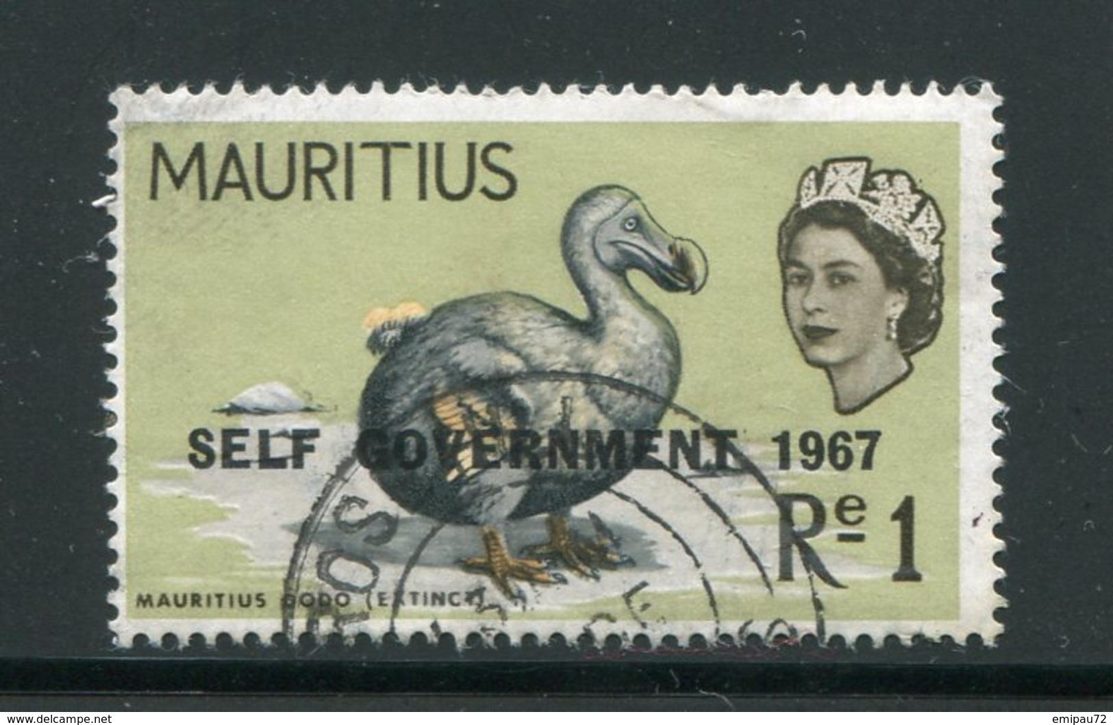 MAURICE- Y&T N°307- Oblitéré (oiseau) - Maurice (...-1967)