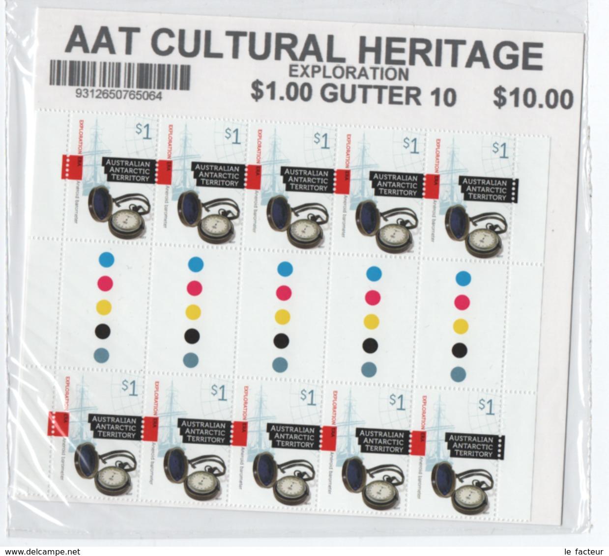 BG54 AAT Antarctic Cultural Heritage Full Sheeet (blister Unopened) - Australian Antarctic Territory (AAT)