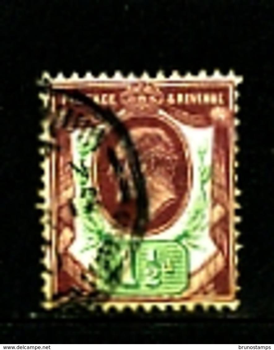 GREAT BRITAIN - 1902  EDWARD VII  1 1/2d  PURPLE & GREEN  FINE USED  SG 224 - 1902-1951 (Re)