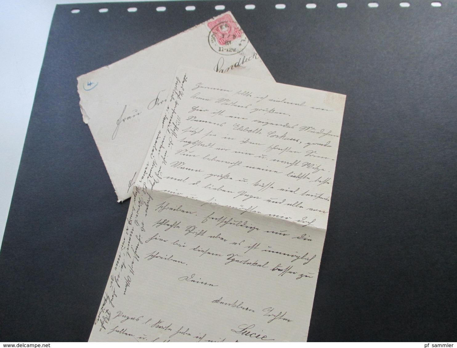 DR 1883 Pfennig Nr. 41 EF Auf 2 Belegen / 1x Mit Inhalt. Wolfenbüttel Nach Stuttgart Bazar. Hinten Verziert!! - Briefe U. Dokumente