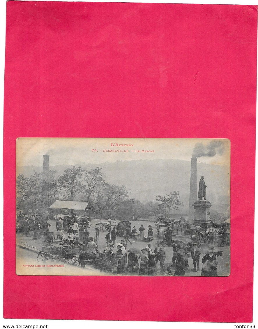 DECAZEVILLE - 12 - Le Marché - POIT/SAL - - Decazeville