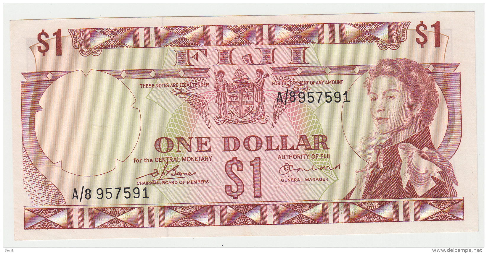 FIJI 1 Dollar 1974 XF++ AUNC Pick 71a  71 A - Fiji