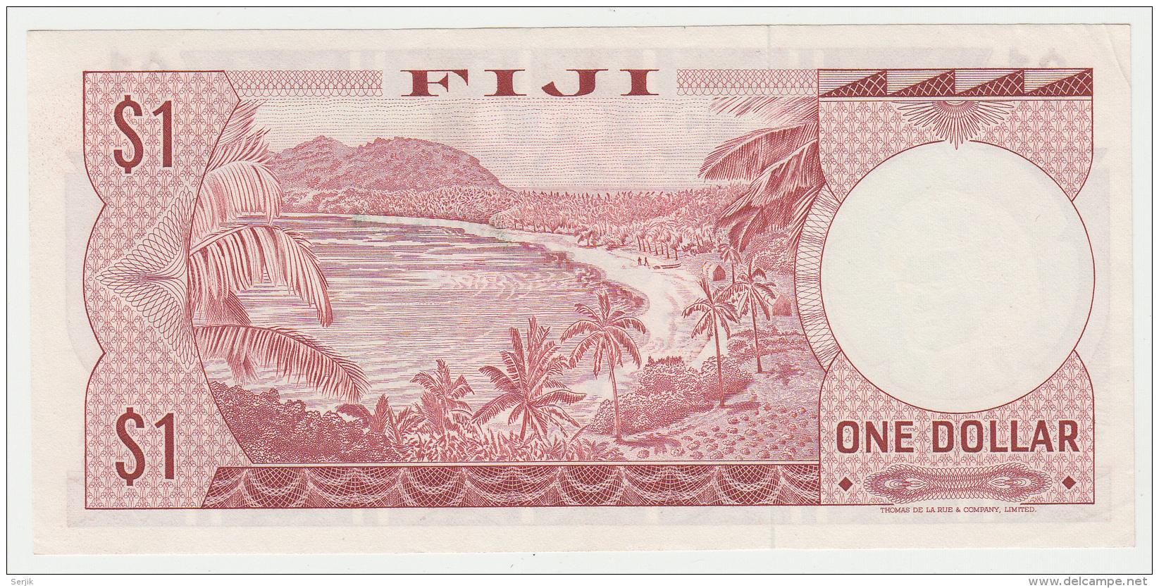 FIJI 1 Dollar 1974 XF++ AUNC Pick 71a  71 A - Fidji
