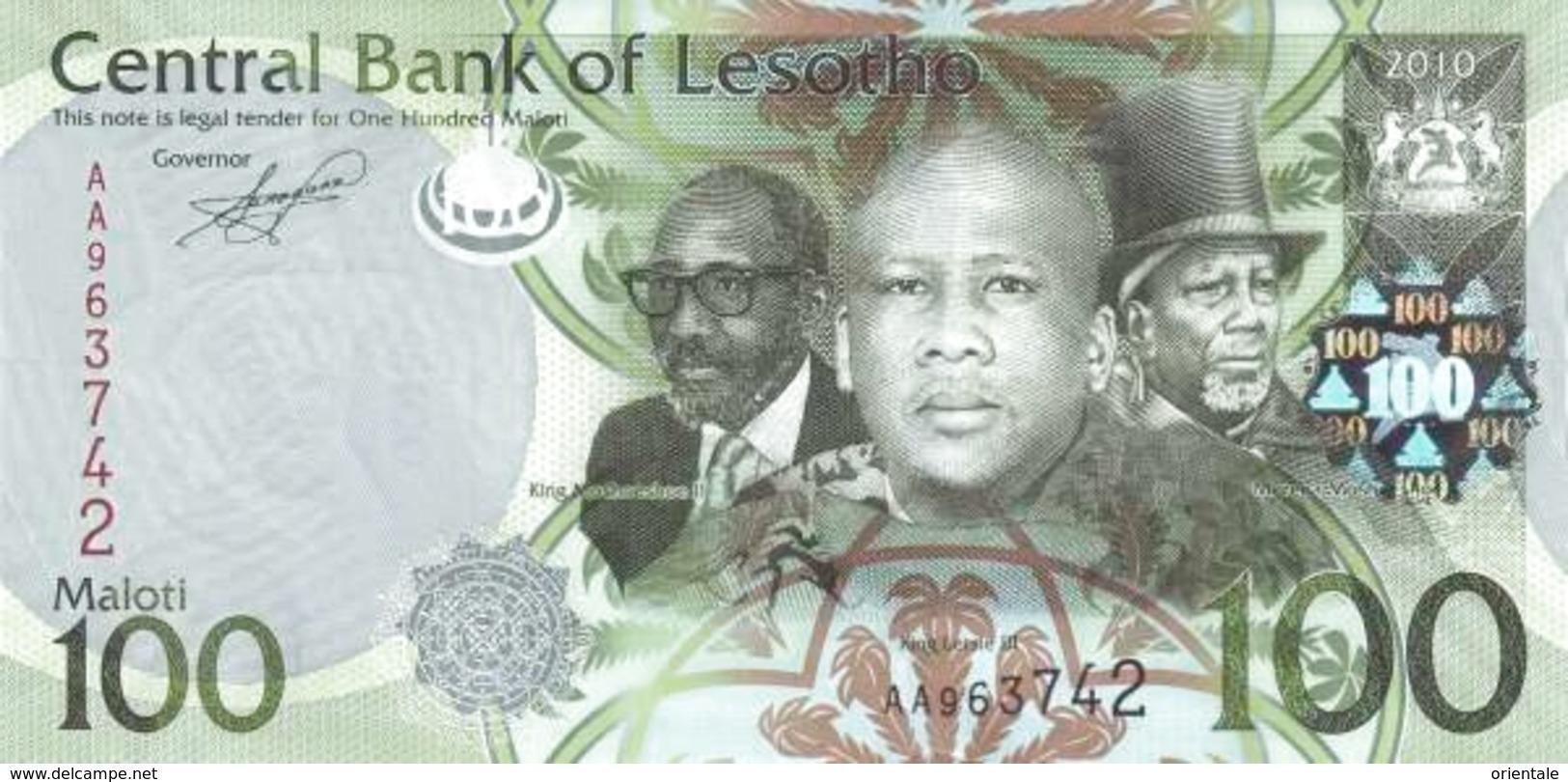 LESOTHO P. 24a 100 M 2010 UNC - Lesotho