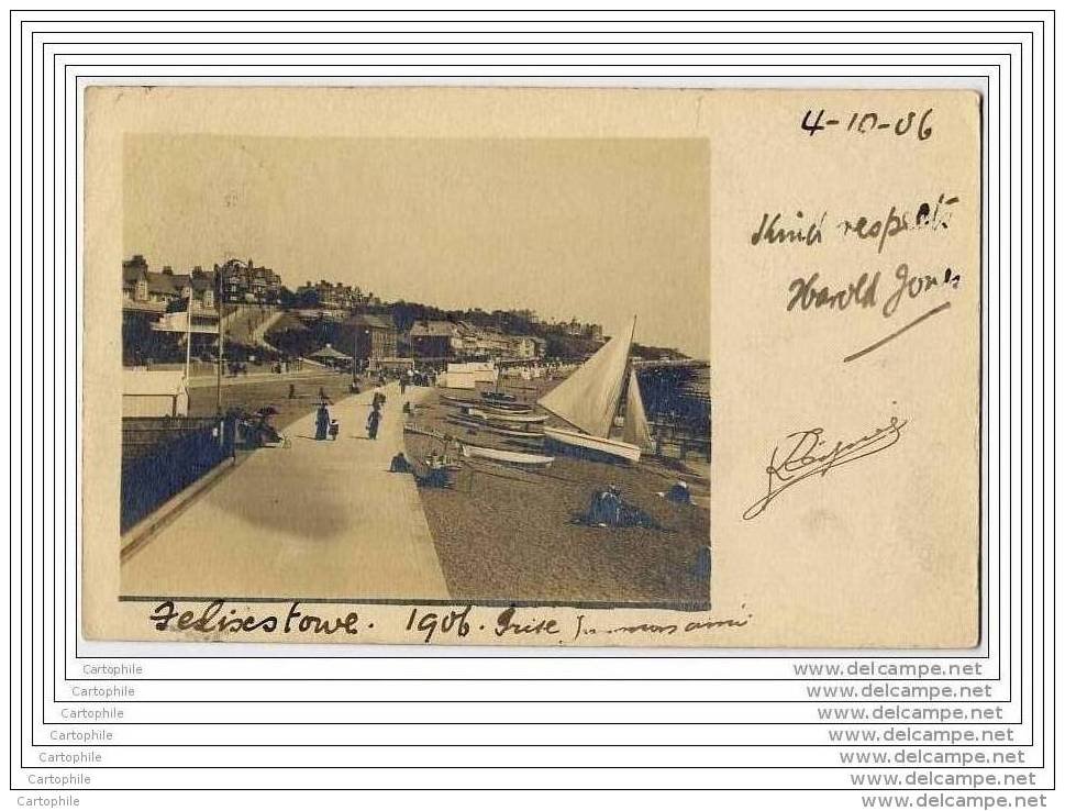 UK - Felixstowe - Photo Postcard 1906 - Non Classés