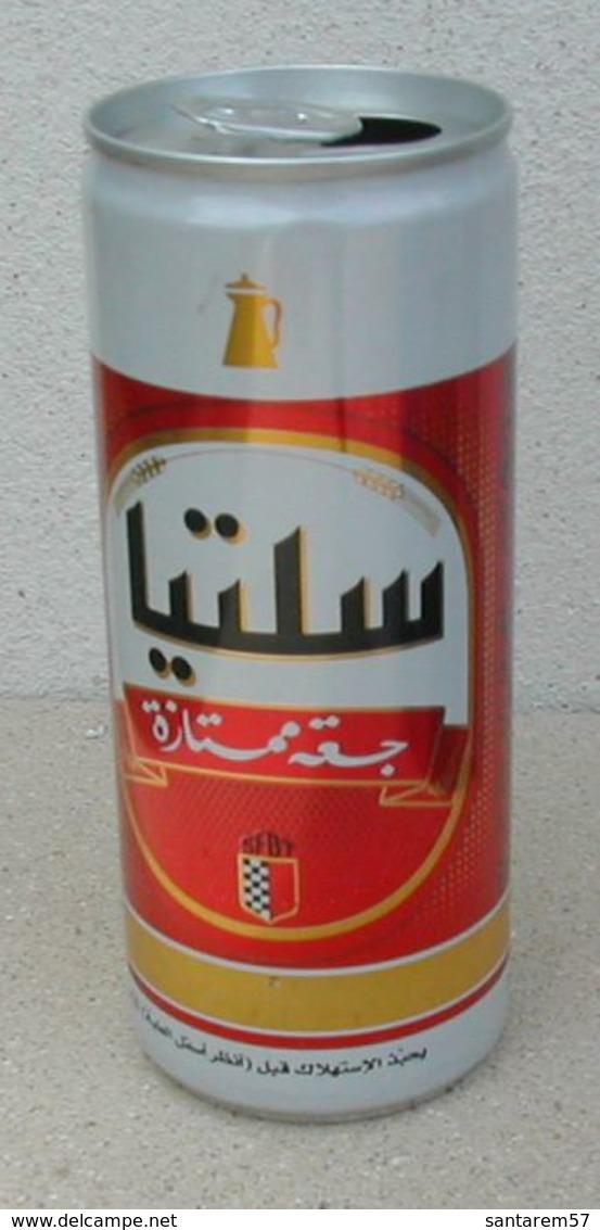 Cannette Vide Empty Can Celtia Bière De Luxe Tunisienne 24 Cl - Cannettes