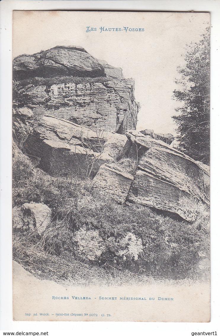 Ps- 88 - Roches Velleda - Sommet Meridional Du DONON - Timbre - Cachet - 1907 - Unclassified