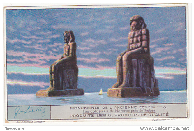 Chromo - Liebig - Monuments De L'anciennne Egypte - N°3 - Liebig