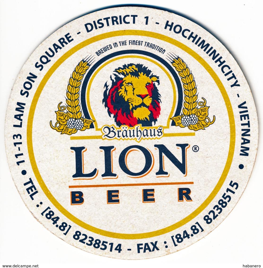 VIETNAM - LION BEER - CRAFT BEER FROM HO CHI MINH (SAIGON) - Beer Mats