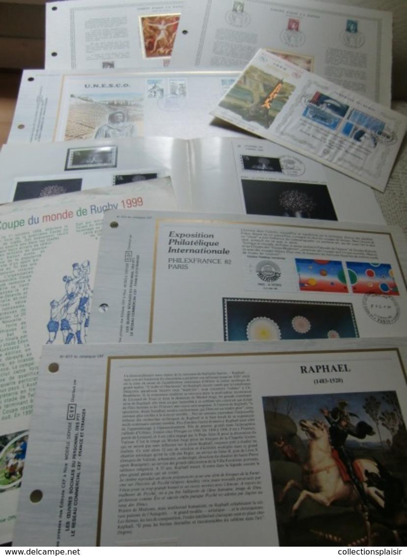 LIQUIDATION + DE 400 FDC ET DOCUMENTS FEUILLETS NOMBREUX THEMES A SAISIR/gros Carton - Sammlungen