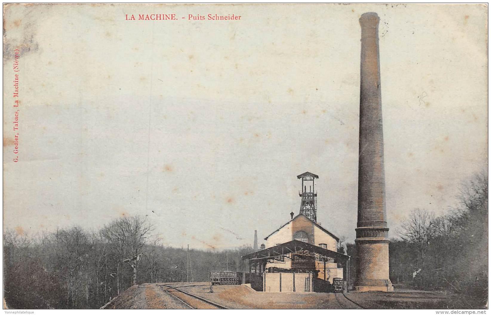58 - NIEVRE / La Machine - 583846 - Puits Schneider - La Machine