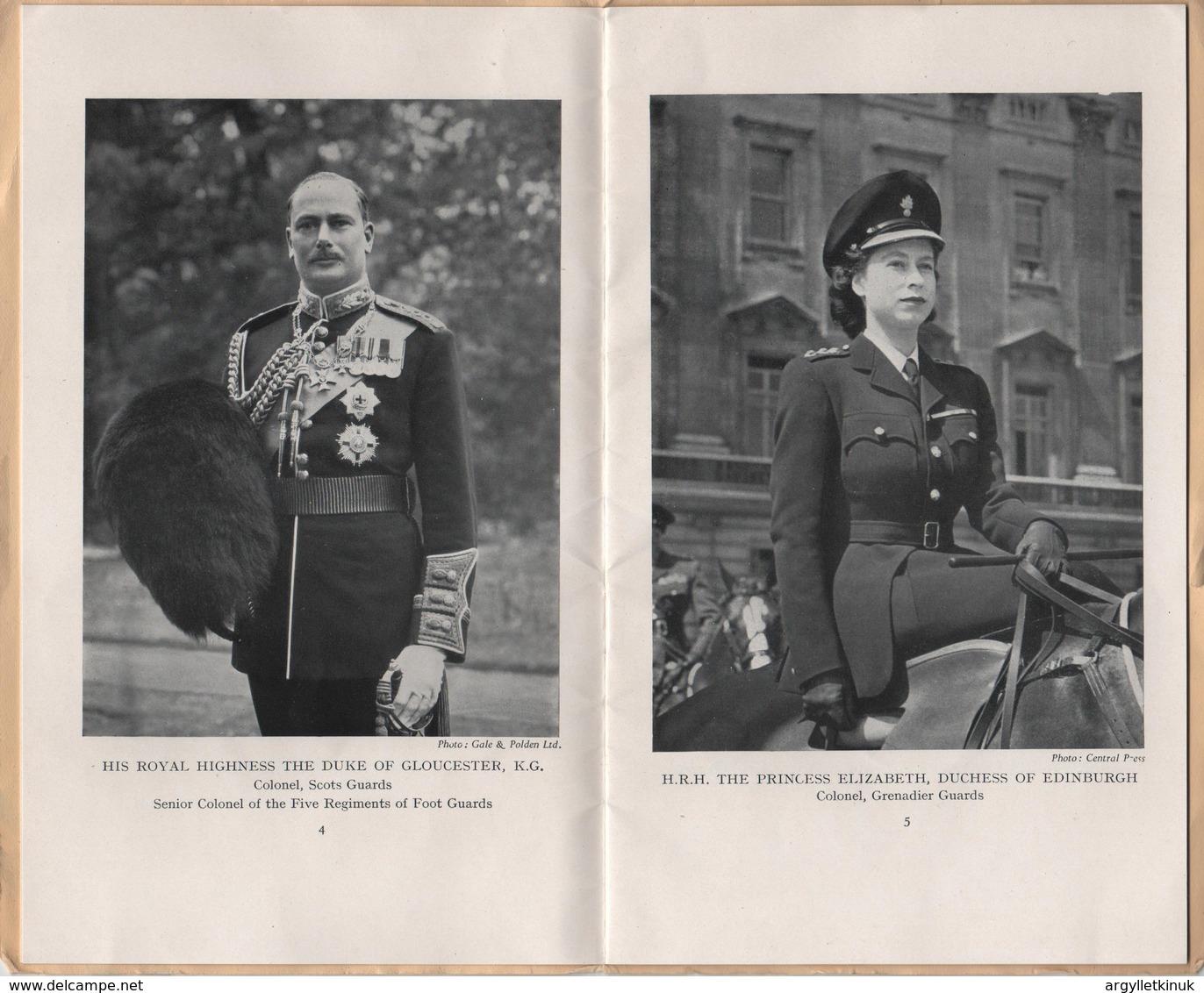 KING GEORGE 6TH TROOPING THE COLOUR BIRTHDAY PRINCESS ELIZABETH 1949 - British Army