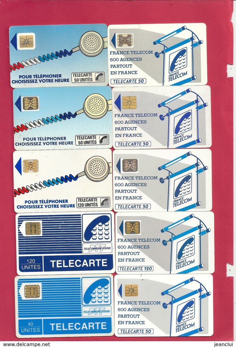 PETIT LOT DE 10 TELECARTES TOUTES DIFF .. - Télécartes
