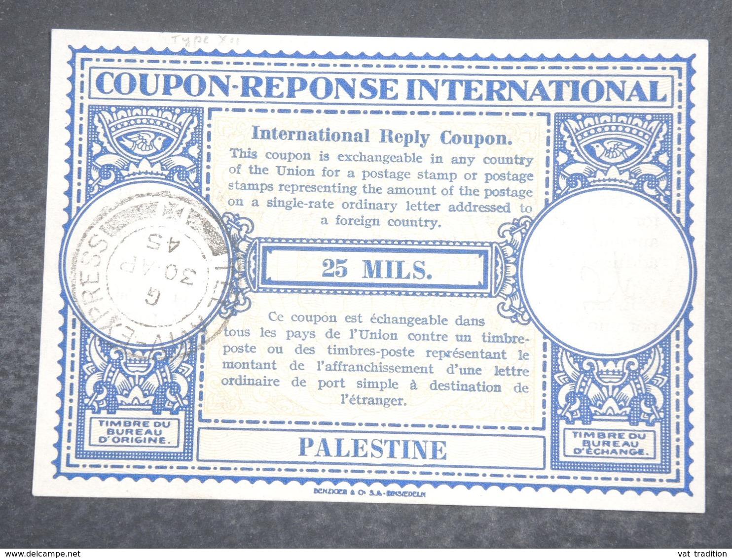 PALESTINE - Coupon Réponse De 1945 - L 18826 - Palestine
