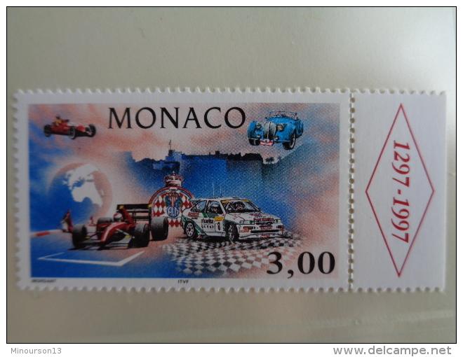 MONACO 1996  Y&T N° 2084 ** - L'AUTOMOBILE CLUB DE MONACO - Monaco