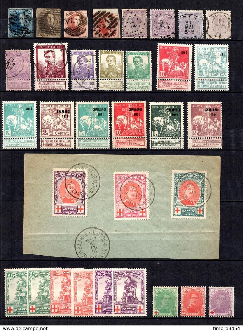 Belgique Belle Collection D'anciens Neufs * Et Oblitérés 1849/1940. Nombreuses Bonnes Valeurs. B/TB. A Saisir! - Belgium
