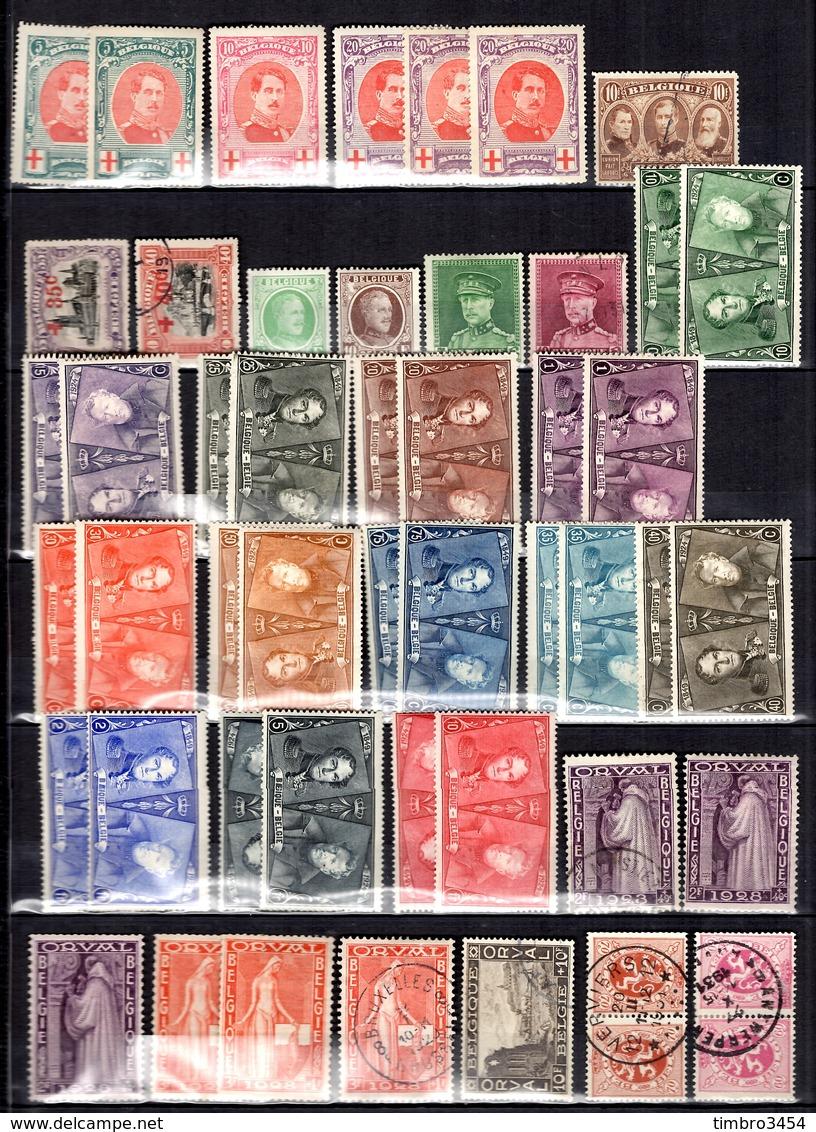 Belgique Belle Collection D'anciens Neufs * Et Oblitérés 1849/1940. Nombreuses Bonnes Valeurs. B/TB. A Saisir! - Sammlungen