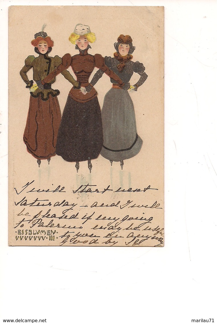 M5921 Illustratore Raphael Kirchner Liberty Essblumev 1902 Viaggiata - Kirchner, Raphael