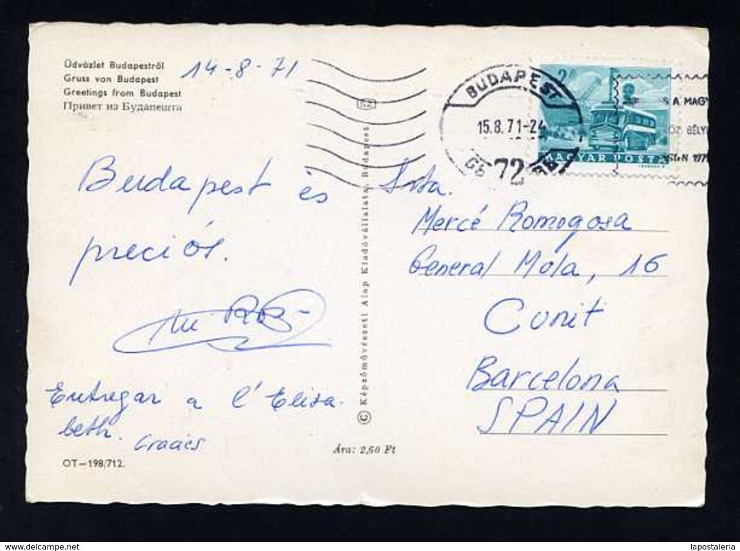 Hungría. Budapest *Greetings From Budapest* Circulada 1971. - Hungría