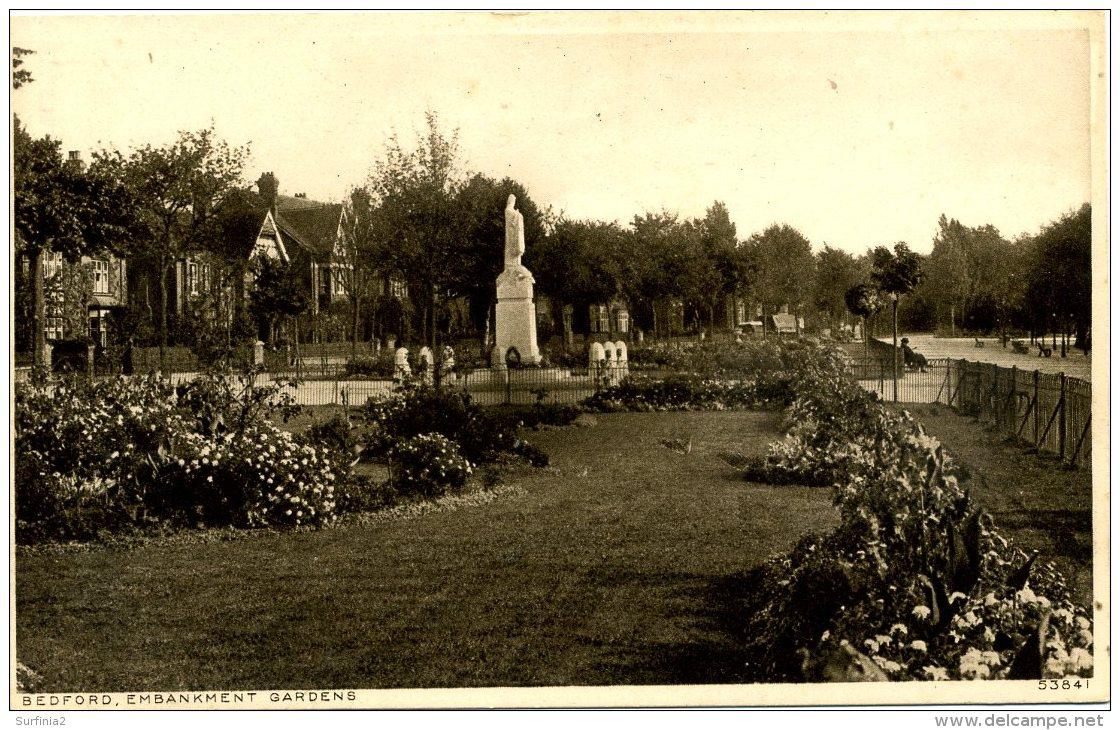 BEDS - BEDFORD - EMBANKMENT GARDENS (WAR MEMORIAL) Bd58 - Bedford
