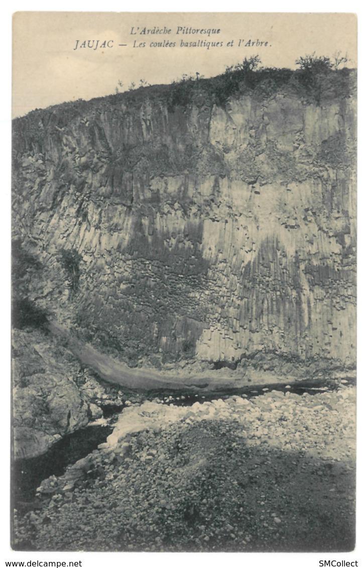 07 Jaujac, Les Coulées Basaltiques Et L'arbre (3418) - France
