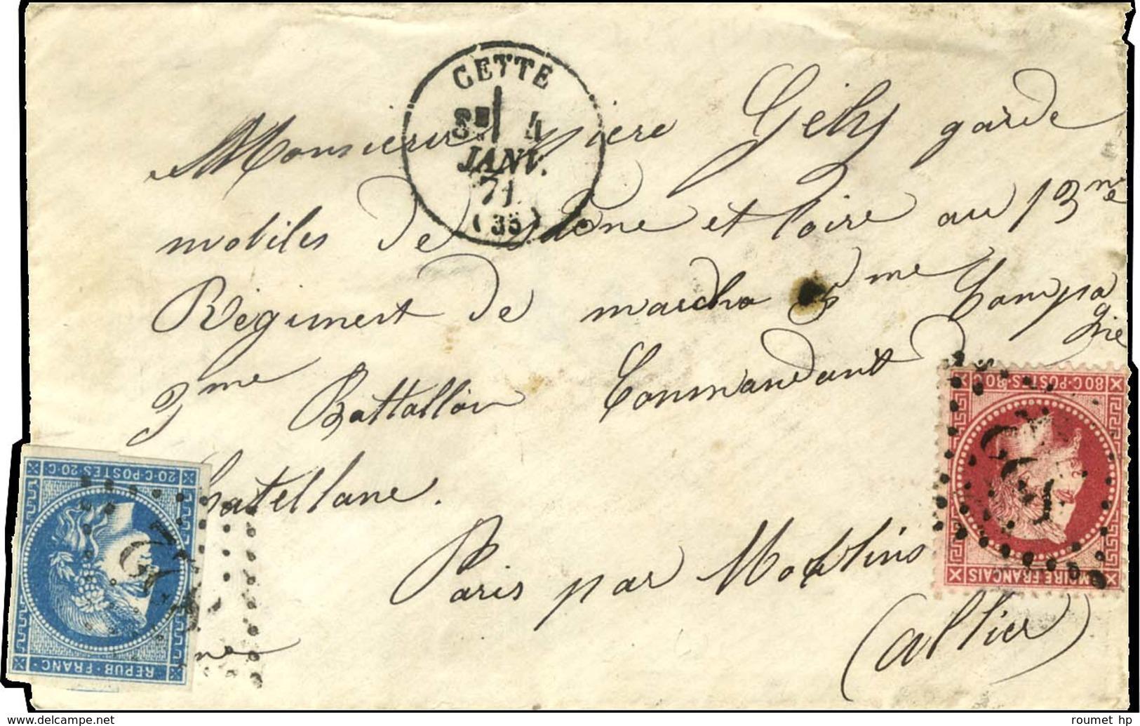 GC 822 / N° 32 + 45 Càd T 16 CETTE (33) 4 JANV. 71 Sur Boule De Moulins Sans Càd D'arrivée. - TB / SUP. - R. - Postmark Collection (Covers)