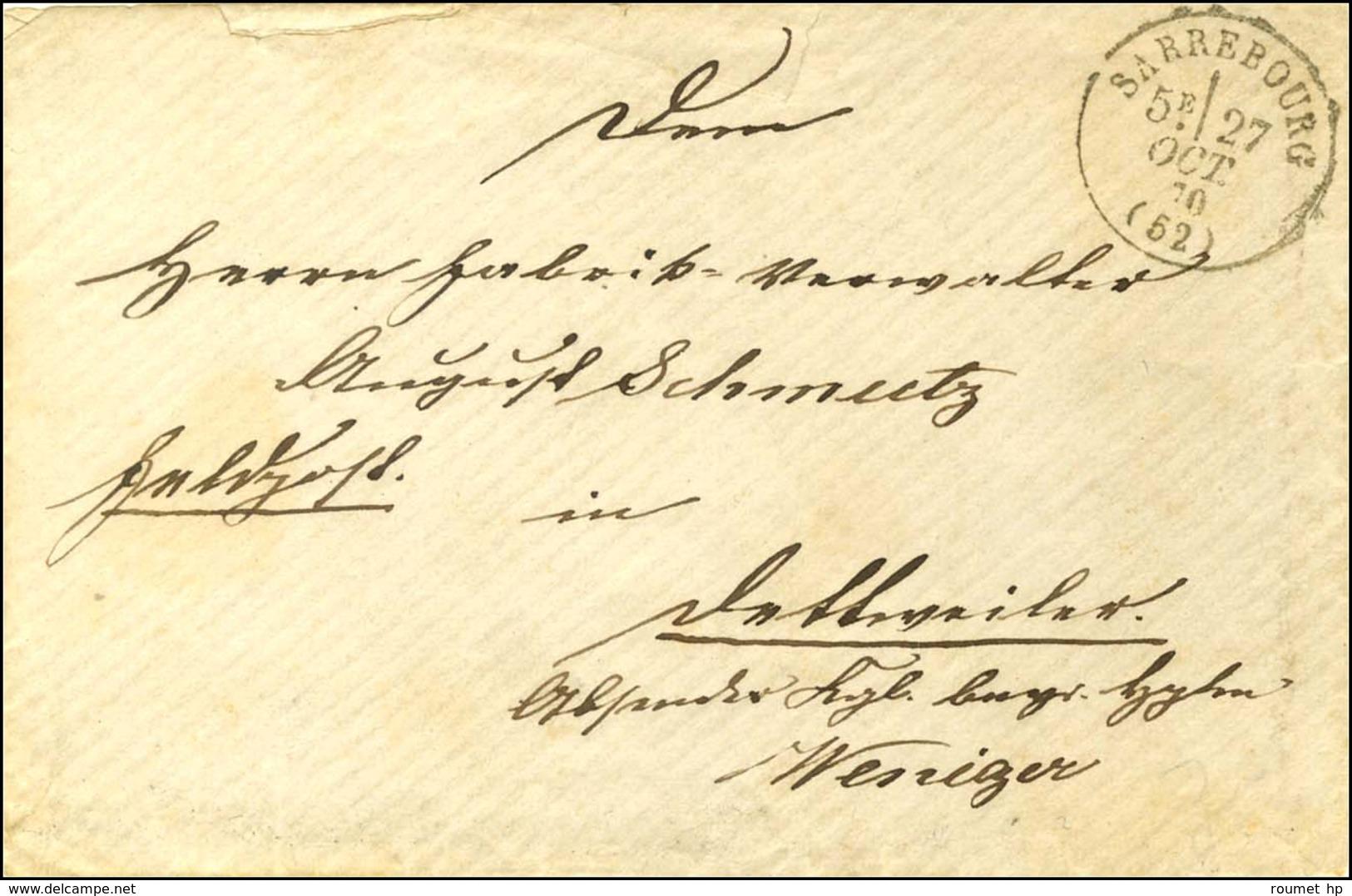 Càd T 16 SARREBOURG (52) 27 OCT. 70 Sur Lettre En Franchise Militaire. Au Verso, Càd ZABERN IM ELSASS. - SUP. - R. - Postmark Collection (Covers)