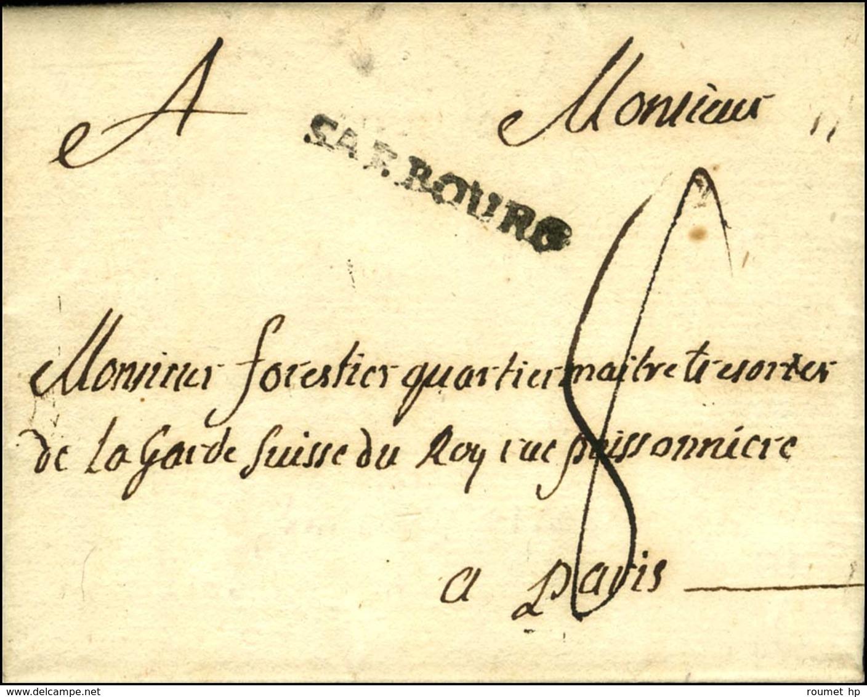 SARBOURG (L N° 3) Sur Lettre Avec Texte Daté De Sarrebourg Le 21 Juin 1790 Pour Paris. - TB / SUP. - Unclassified
