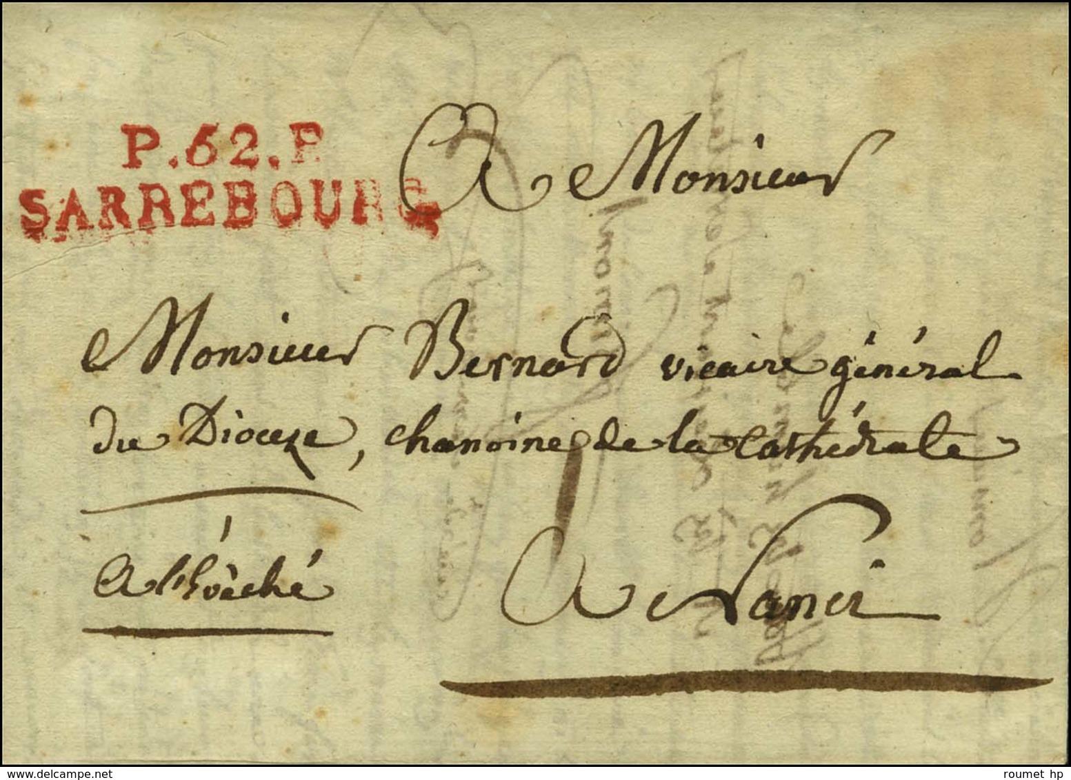 P. 52. P. / SARREBOURG Rouge Sur Lettre Avec Texte Daté De Sarrebourg Le 26 Mars 1819 Pour Nancy. - SUP. - Unclassified