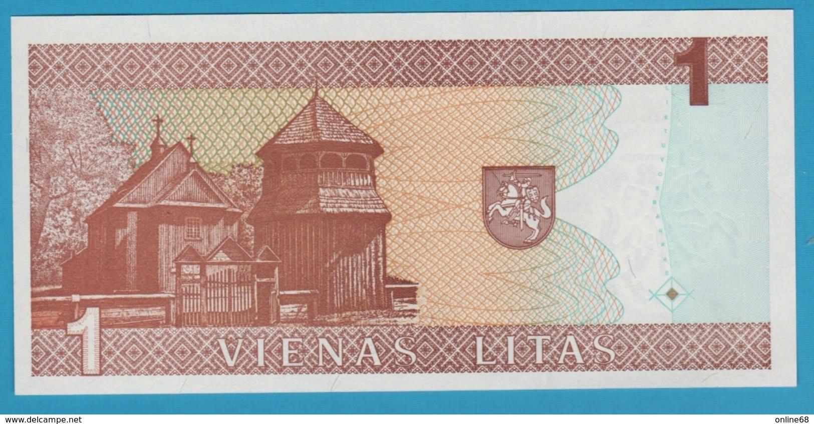 LITHUANIA 1 LITAS 1994  Serie AAG8775185 P# 53 - Lituanie