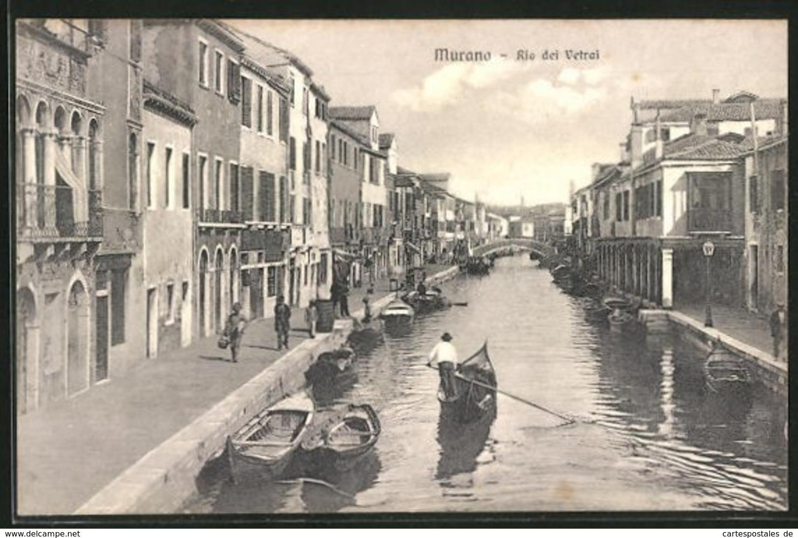 Cartolina Murano, Rio Dei Vetrai - Italie