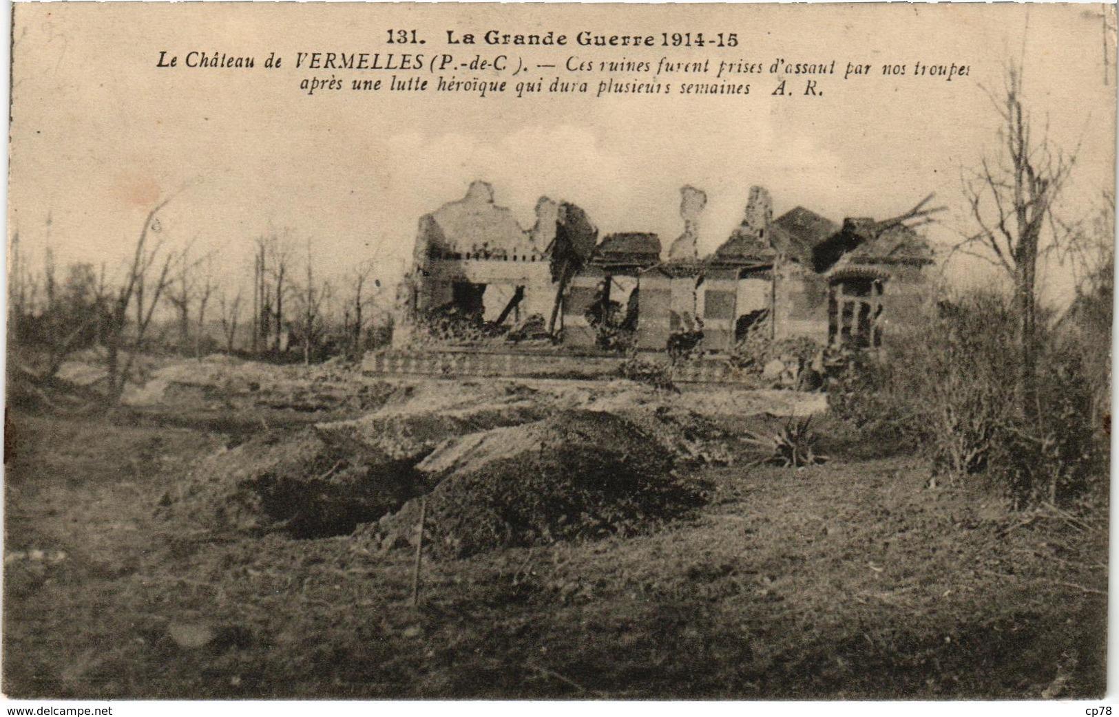 Lot De 7 Cartes - La Grande Guerre 1914-15 - Communes Du Pas De Calais - écrite Au Verso - Autres Communes