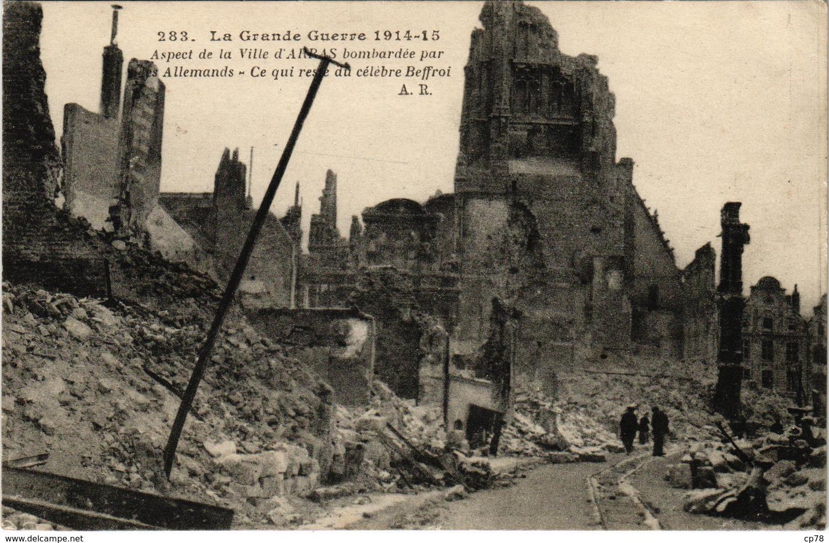 Lot De 7 Cartes - La Grande Guerre 1914-15 - Communes Du Pas De Calais - écrite Au Verso - France