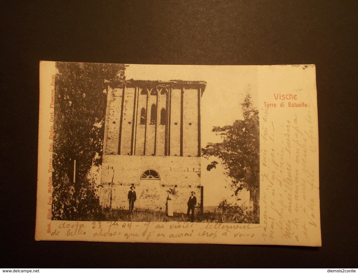 Carte Postale -  ITALIE -VISCHE - Torre Di Batuello (2284) - Autres Villes