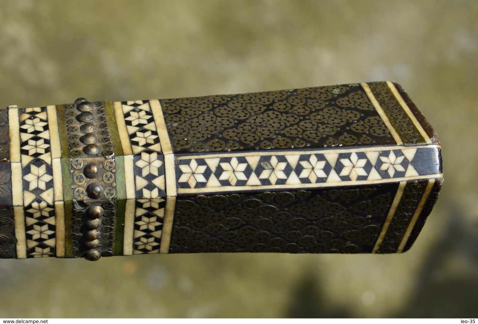 Ancienne Crosse De Fusil A Silex Arabe MAROCAIN – Pièce Détaché - XIX Siècle - Army & War