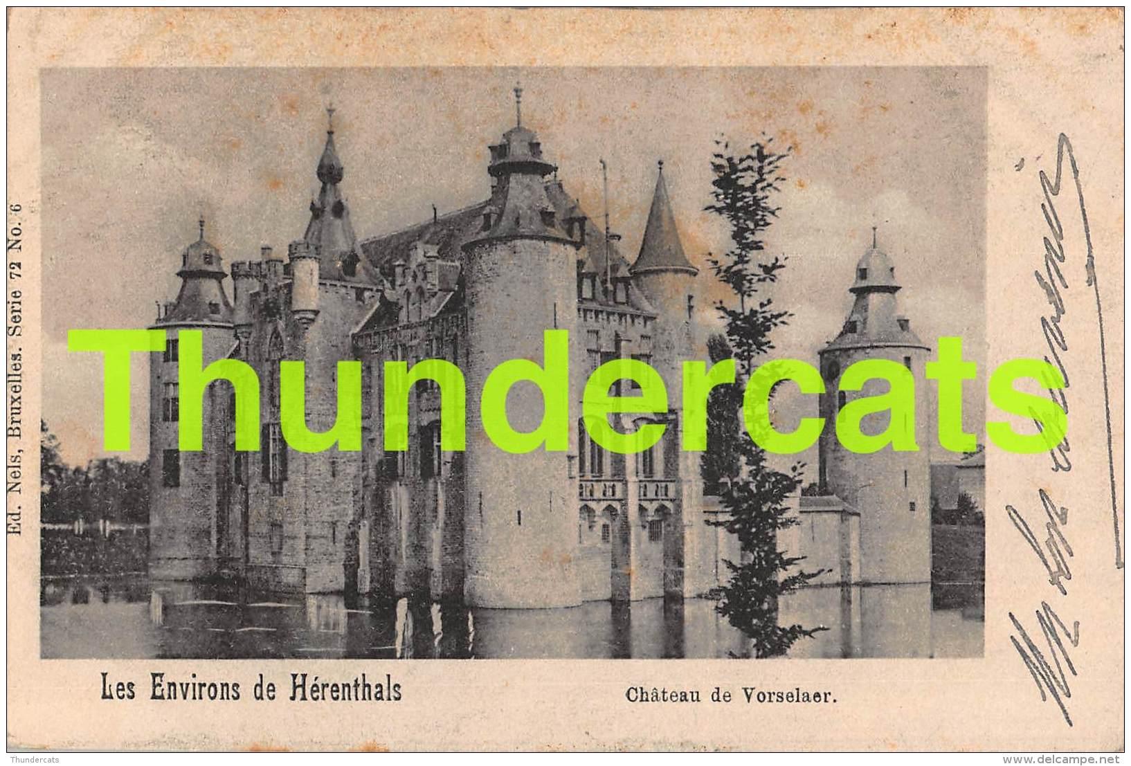 CPA LES ENVIRONS DE HERENTHALS CHATEAU DE VORSELAER HERENTALS - Herentals