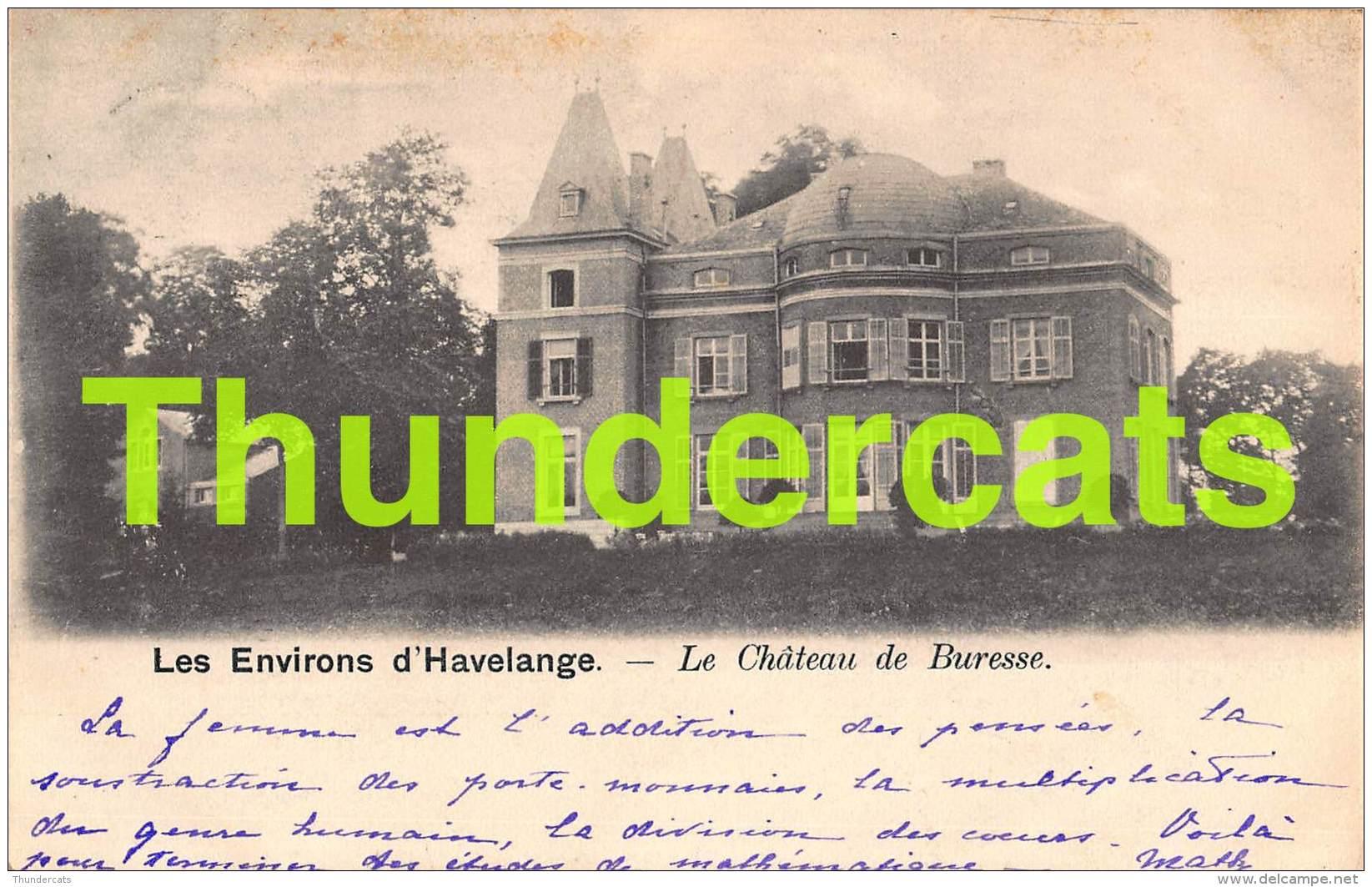 CPA LES ENVIRONS D'HAVELANGE LE CHATEAU DE BURESSE - Havelange