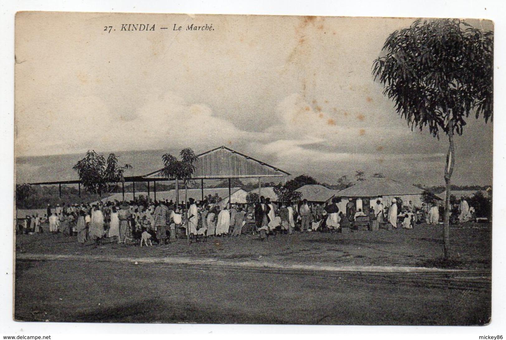 GUINEE  Française--KINDIA --2019--Le Marché (très Animée) - Guinée Française