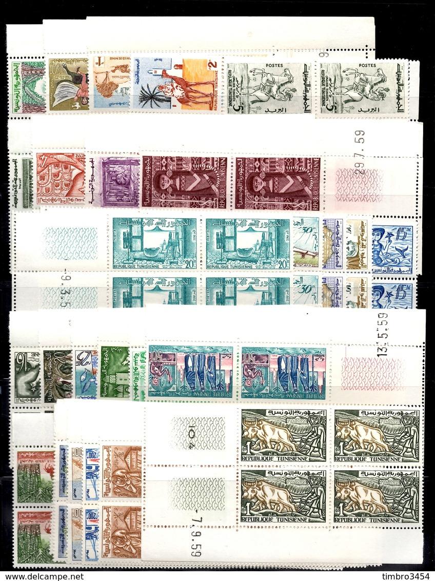 Tunisie YT N° 471/496 Complet En Blocs De 4 Neufs ** MNH. TB. A Saisir! - Tunisie (1956-...)