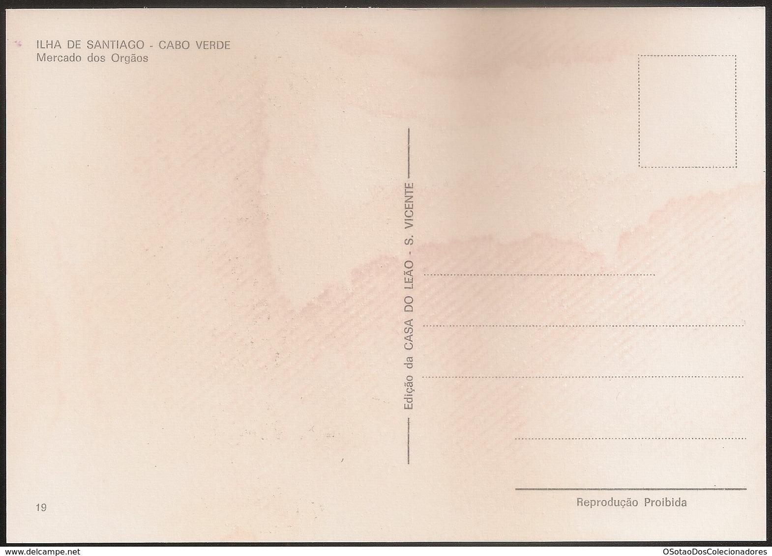Postal Cabo Verde - Cape Verde - Ilha De Santiago - Mercado Dos Orgãos - Carte Postale - Postcard - Cap Vert