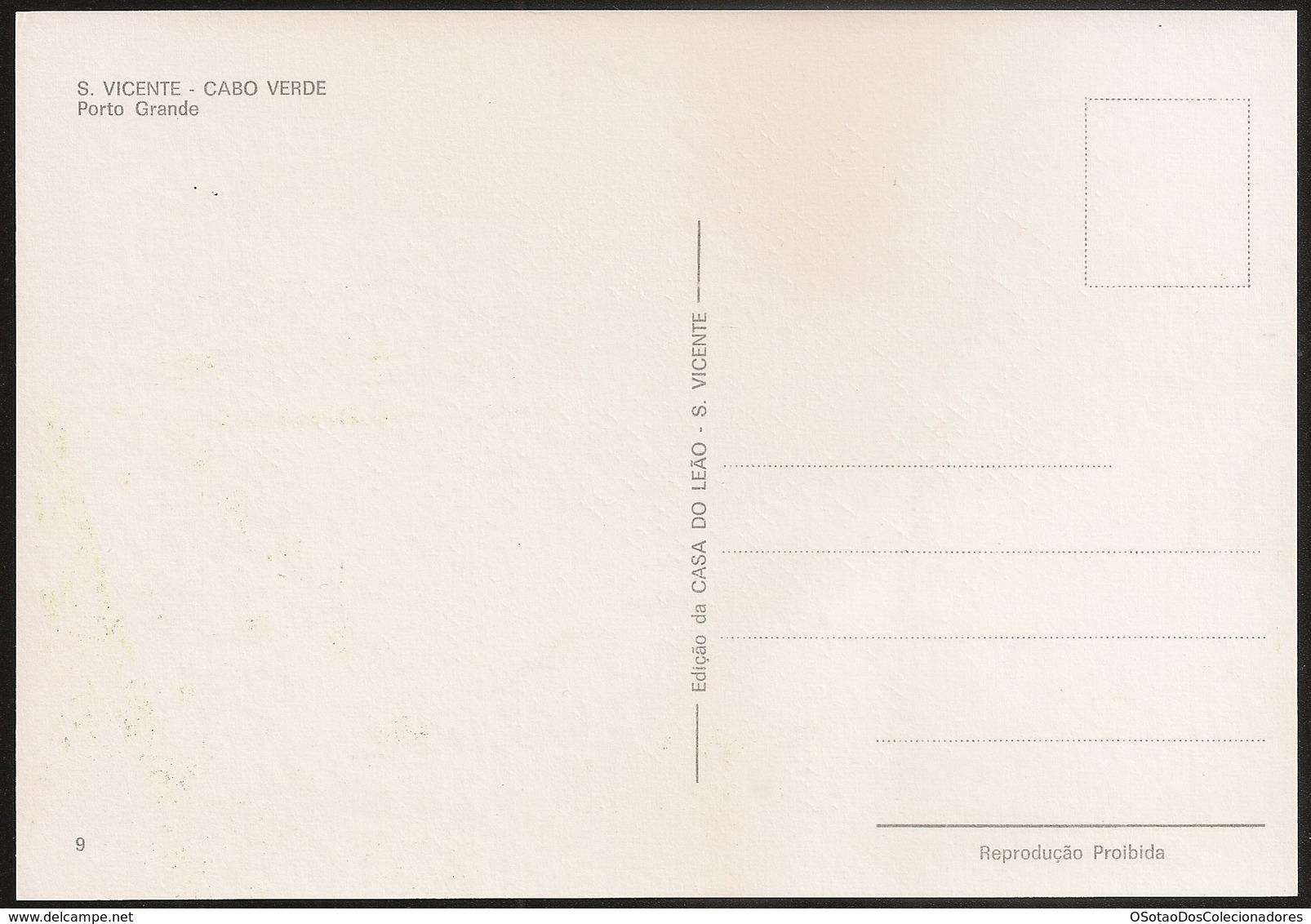Postal Cabo Verde - Cape Verde - Ilha De S. Vicente - Cidade Do Mindelo - Porto Grande - Postcard - Cap Vert