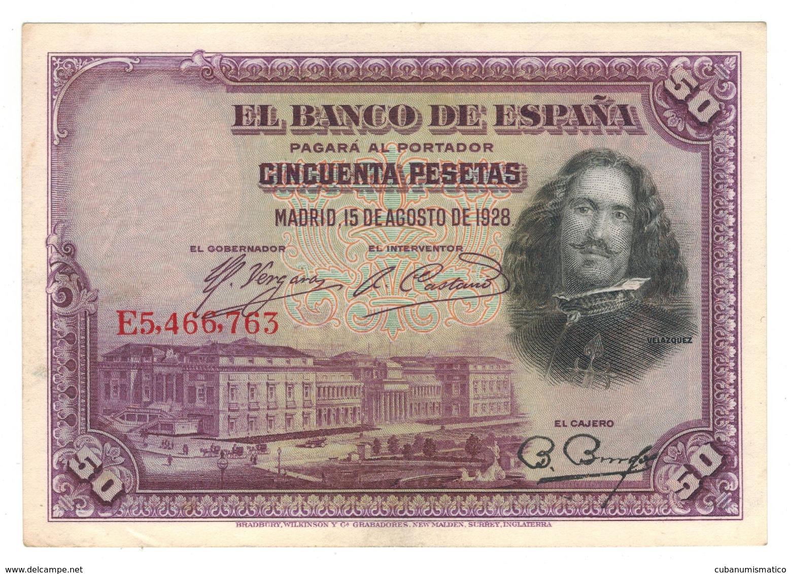 Spain 50 Pesetas 1928, Madrid, XF. - [ 1] …-1931 : First Banknotes (Banco De España)