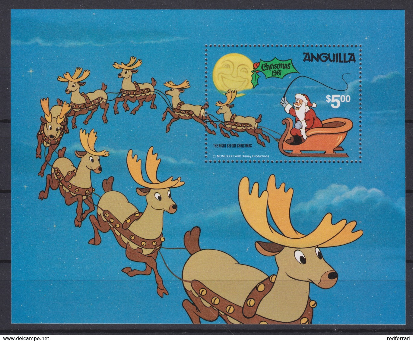 2071 Walt Disney Anguilla ( CHRISTMAS 1981 ) - Disney