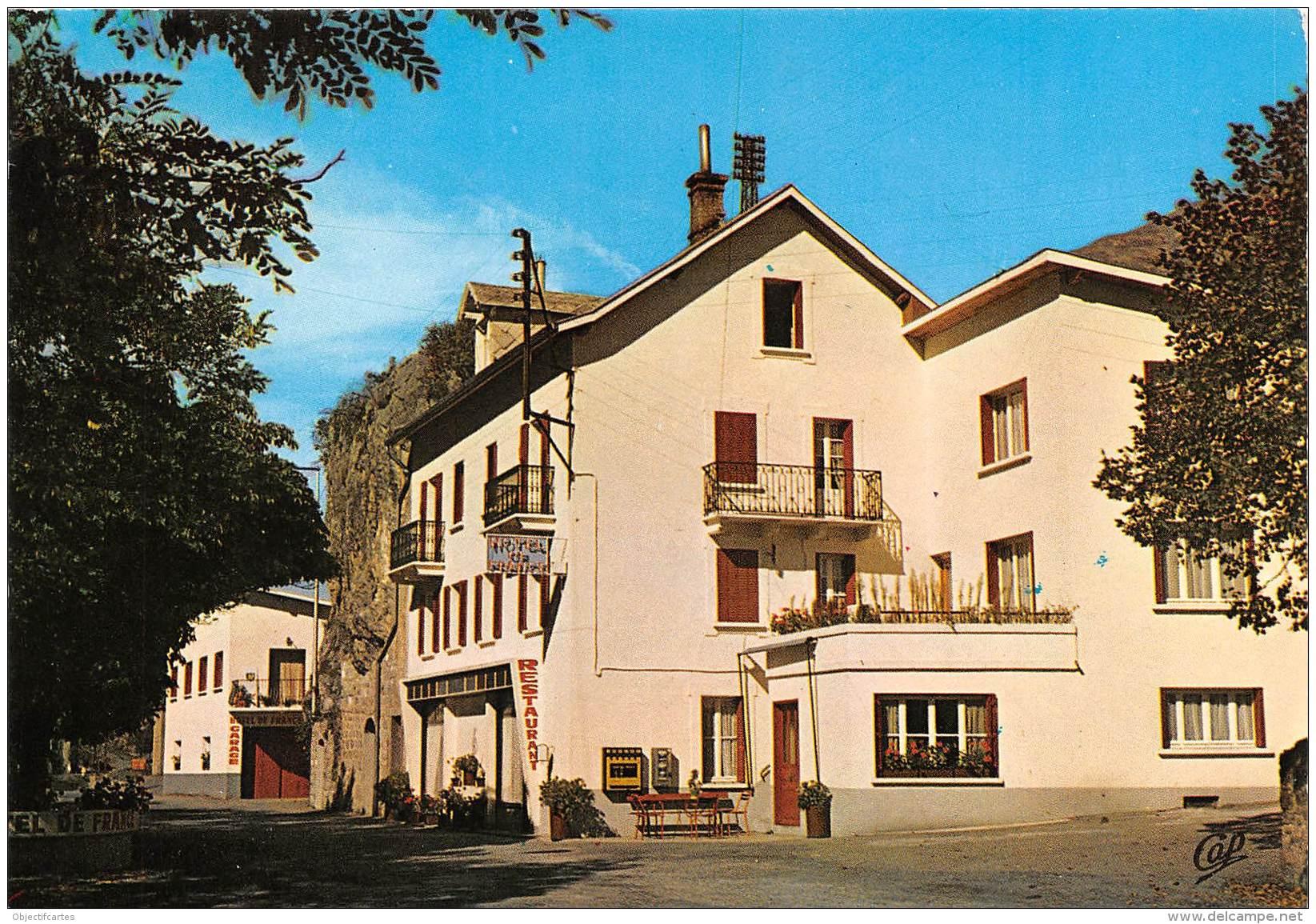 Vallee De L Ubaye LE LAUZET Altitude 900 Metres Hotel Restaurant De France 12(scan Recto-verso) MA743 - Autres Communes